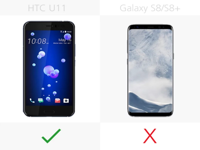 HTC U11 vs Samsung Galaxy S8: Audio